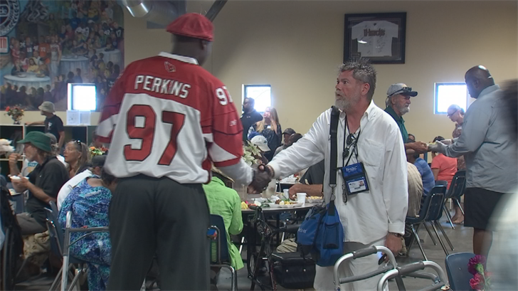 Those less fortunate received an Easter meal on Sunday at St. Vincent de Paul. (Source: 3TV/CBS 5)