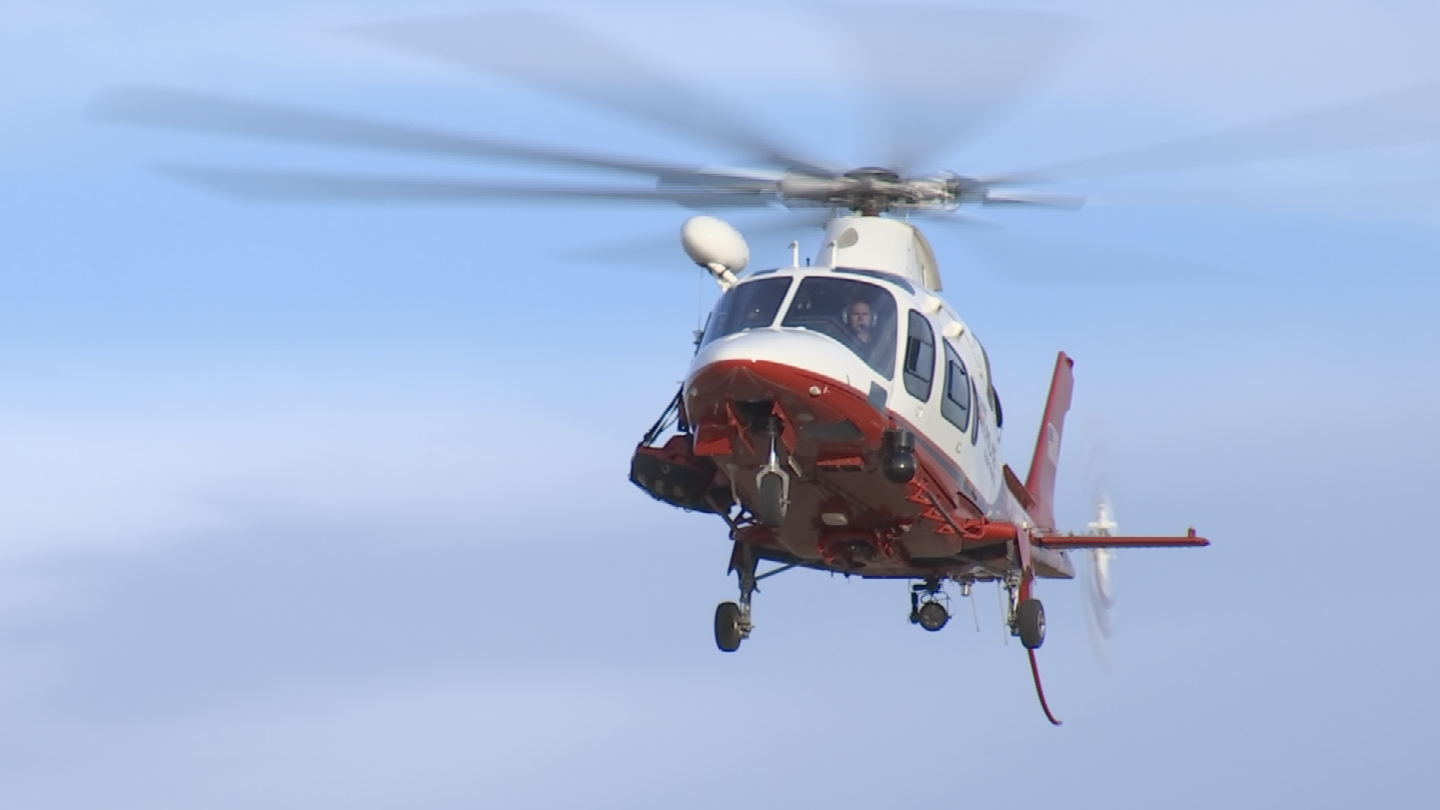 The 18-year-old man was flown off the mountain after falling about 100 feet. (Source: 3TV/CBS 5)