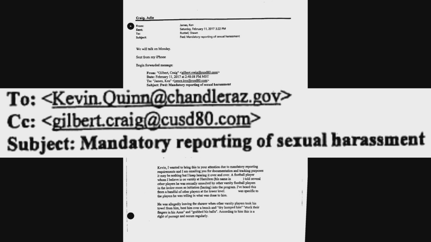 New documents were released in connection the hazing investigation at Hamilton High School. (Source: 3TV/CBS 5)