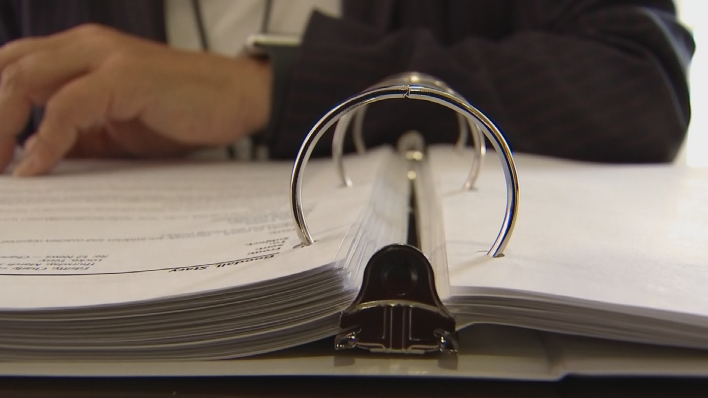 The district released two binders full of emails that were mostly from the media. (Source: 3TV/CBS 5)