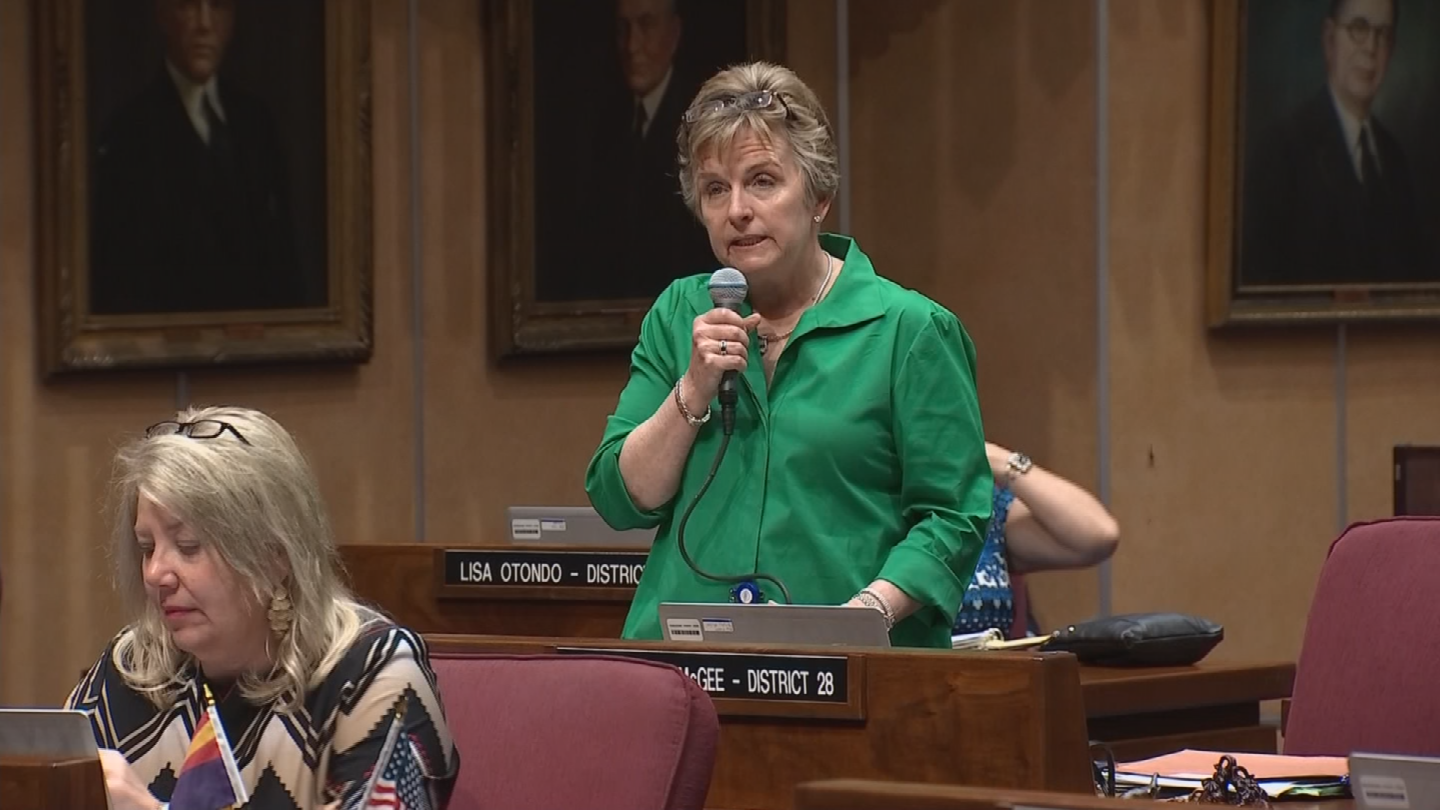 State Sen. Kate Brophy McGee is questioning whether the voucher program will save the state money. (Source: 3TV/CBS 5)
