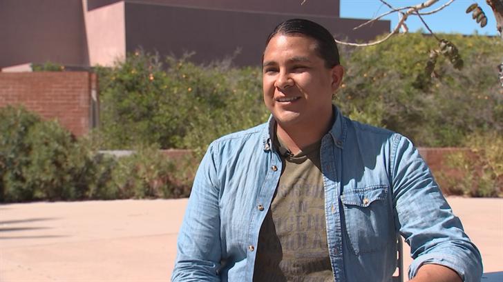 Jameson, AKA J.D., Lopez is a Pat Tillman Scholar who is working toward his doctorate. (Source: 3TV/CBS 5)