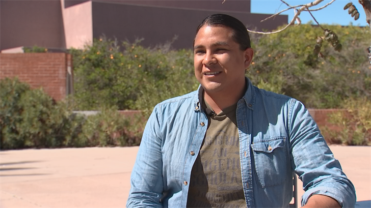 Jameson, AKA J.D., Lopez is a Pat Tillman Scholar who is working toward his doctorate. (Source: 3TV/CBS 5)