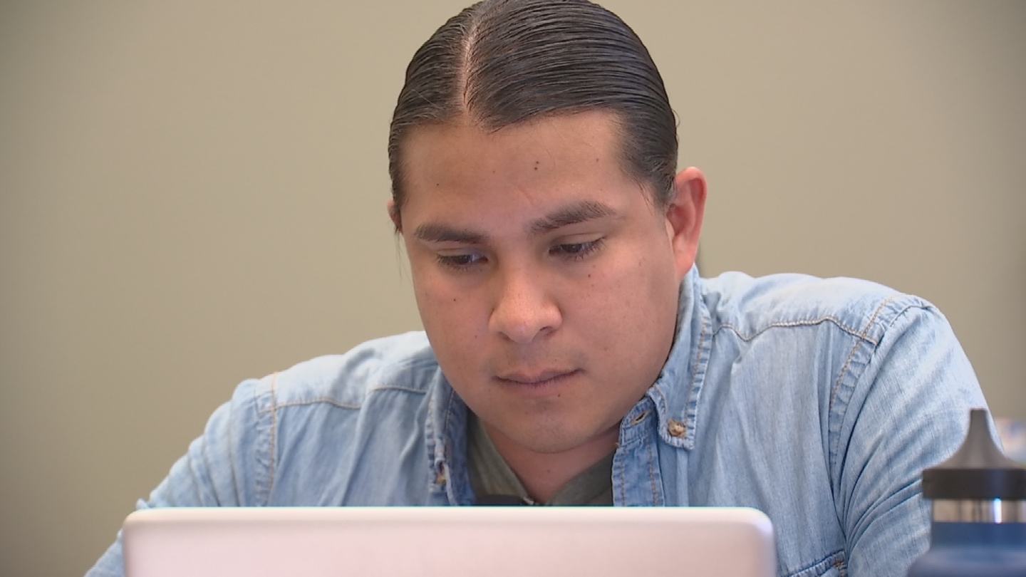 """""""It makes you want to be a better, it makes you want to be a greater person, to be a great return on their investment,"""" Lopez said about being a Tillman Scholar. (Source: 3TV/CBS 5)"""