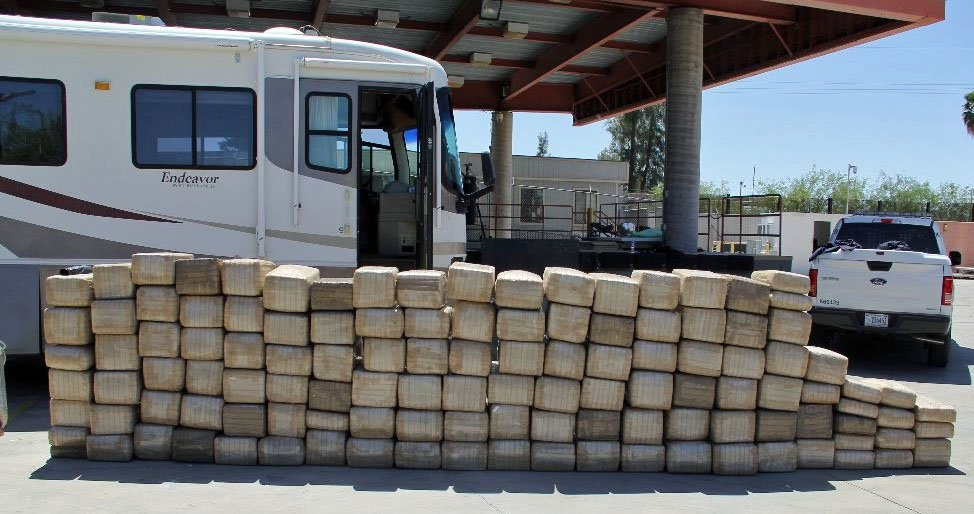 U.S. Customs and Border Protection officers arrested four people and seized more than 2,800 pounds of marijuana. (Source: U.S. Customs and Border Protection)