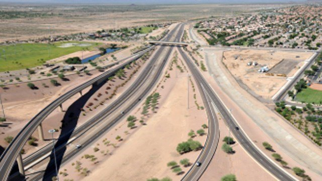 Artist's rendering of the South Mountain Freeway. (Source: ADOT)
