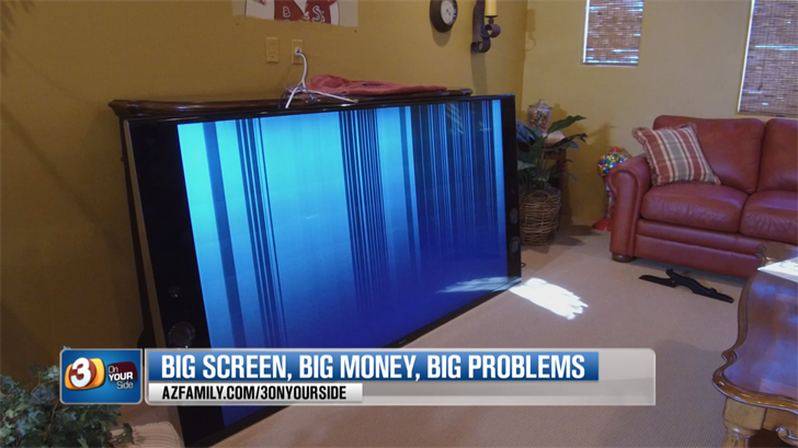 Rich Minkle says his $7,500 TV doesn't work anymore. (Source: 3TV/CBS 5)