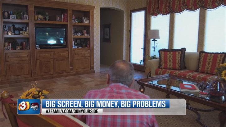 The TV stopped working two months after the warranty expired. (Source: 3TV/CBS 5)