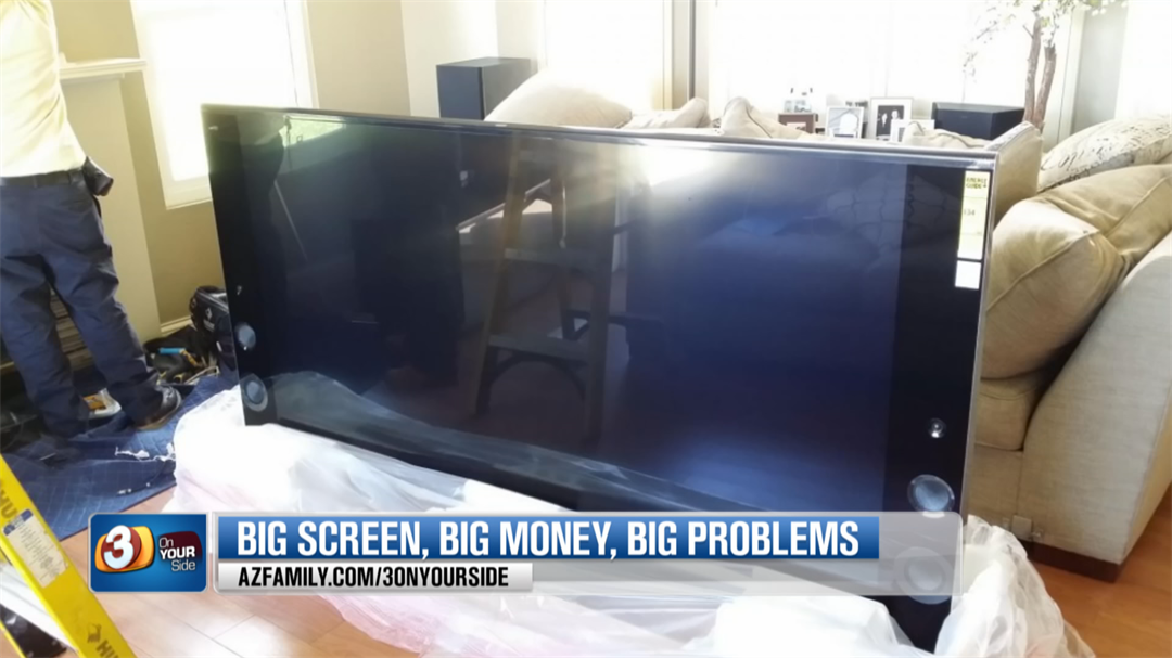 Apparently Sony replacements parts are unavailable for the pricey TV. (Source: 3TV/CBS 5)