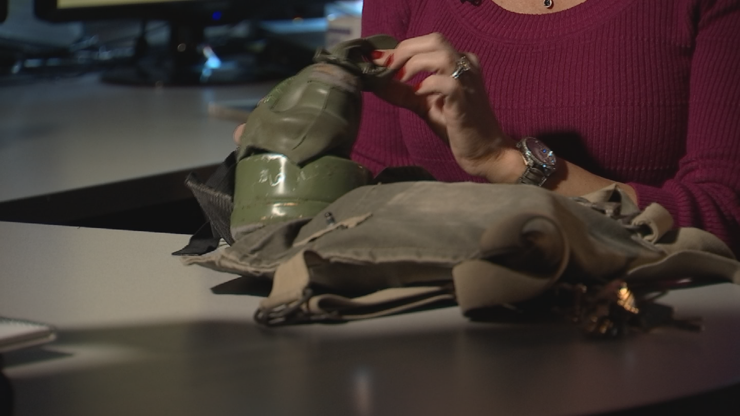 The inspiration for her work stems back to when she came home from Desert Storm. (Source: 3TV/CBS 5)