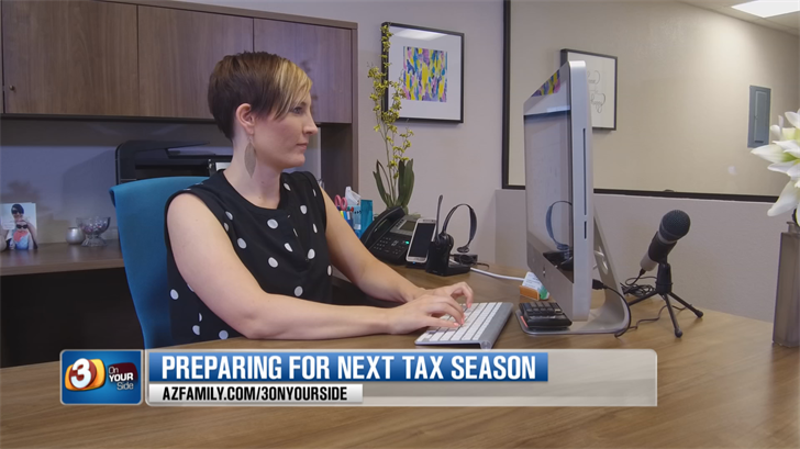 Financial coach Kelsa Dickey said if you prepare now, tax time next year won't be as stressful. (Source: 3TV/CBS 5)