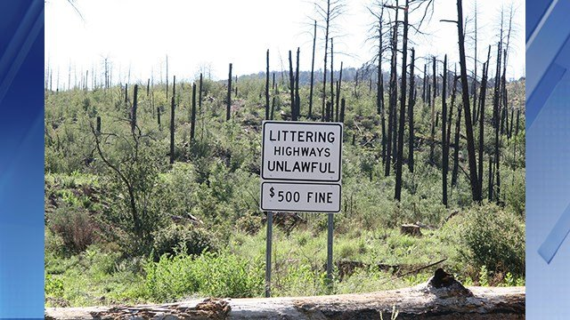 Drivers face a fine of up to $500 for littering. (Source: Arizona Department of Transportation)
