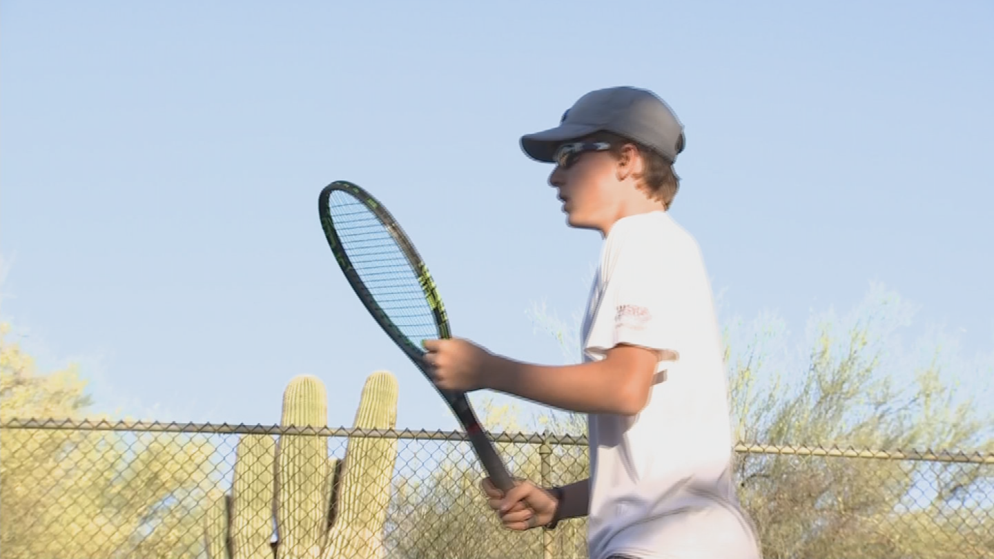 Rush Williams spends more than 15 hours a week practicing on the tennis court but won't be eligible for state title this year. (Source: 3TV/CBS 5)
