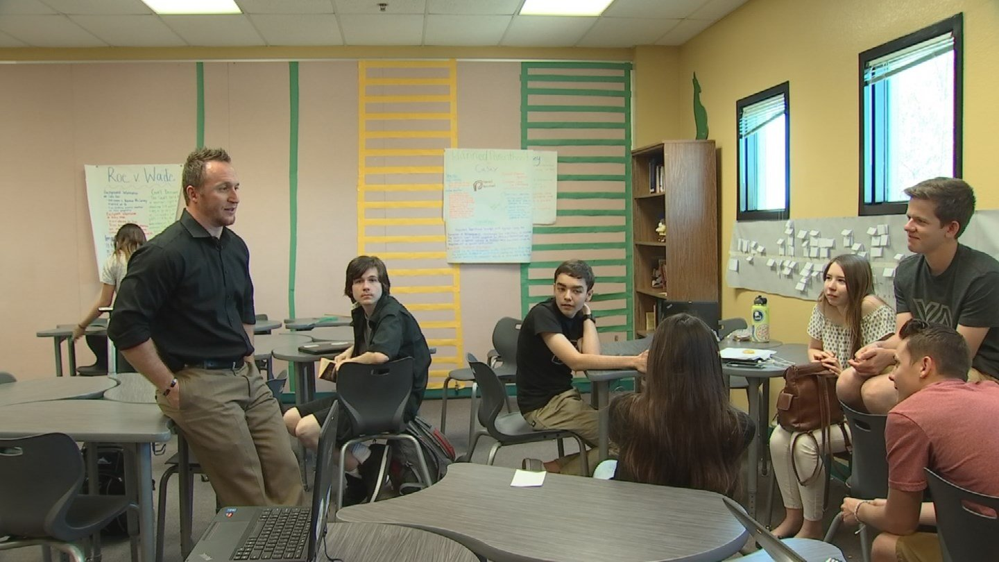 Joseph Wheaton in the classroom at Skyline High School in Mesa (Source: 3TV/CBS 5)