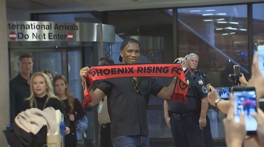 Former Chelsea star Drogba introduced in Phoenix