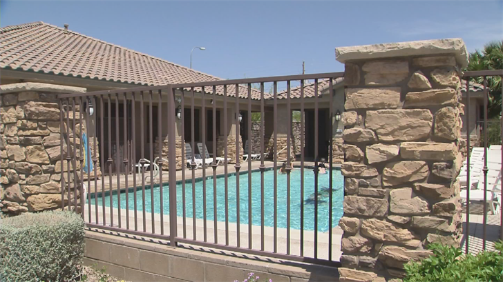 Ajmi jumped into the pool after seeing the girl couldn't swim. (Source: 3TV/CBS 5)