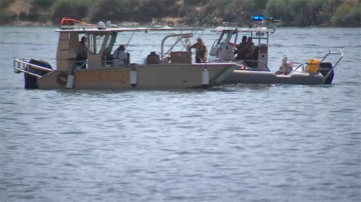 Crews used sonar and boats to try to locate the jet ski rider on Sunday. (Source: 3TV/CBS 5)
