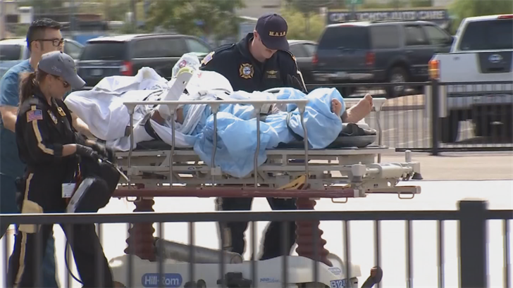 A man was taken to the hospital with burns on 70 percent of his body. (Source: 3TV/CBS 5)