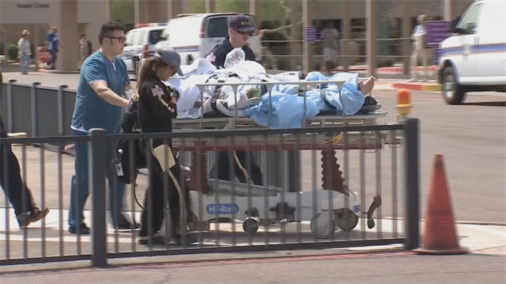 The severely burned man is in critical condition. (Source: 3TV/CBS 5)