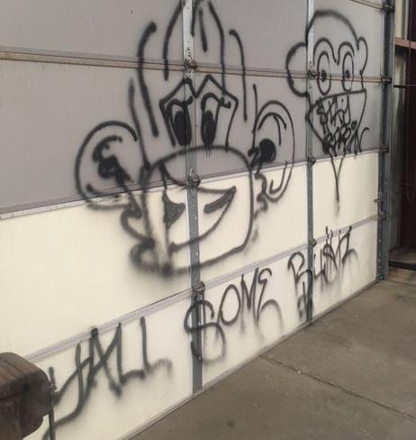Vandalism from Casa Grande Union High School.  24 April 2017
