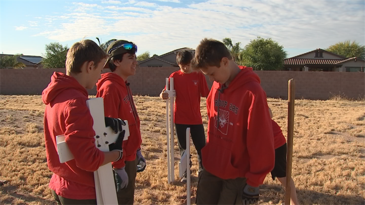 The teen planned the project, raised money for supplies and organized other parents and Boy Scouts from his troop to help. (Source: 3TV/CBS 5)