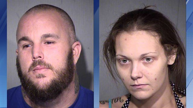 Aaron Fish, left, and Amanda Darice Sistrunk, right. (Source: Maricopa County Sheriff's Office)