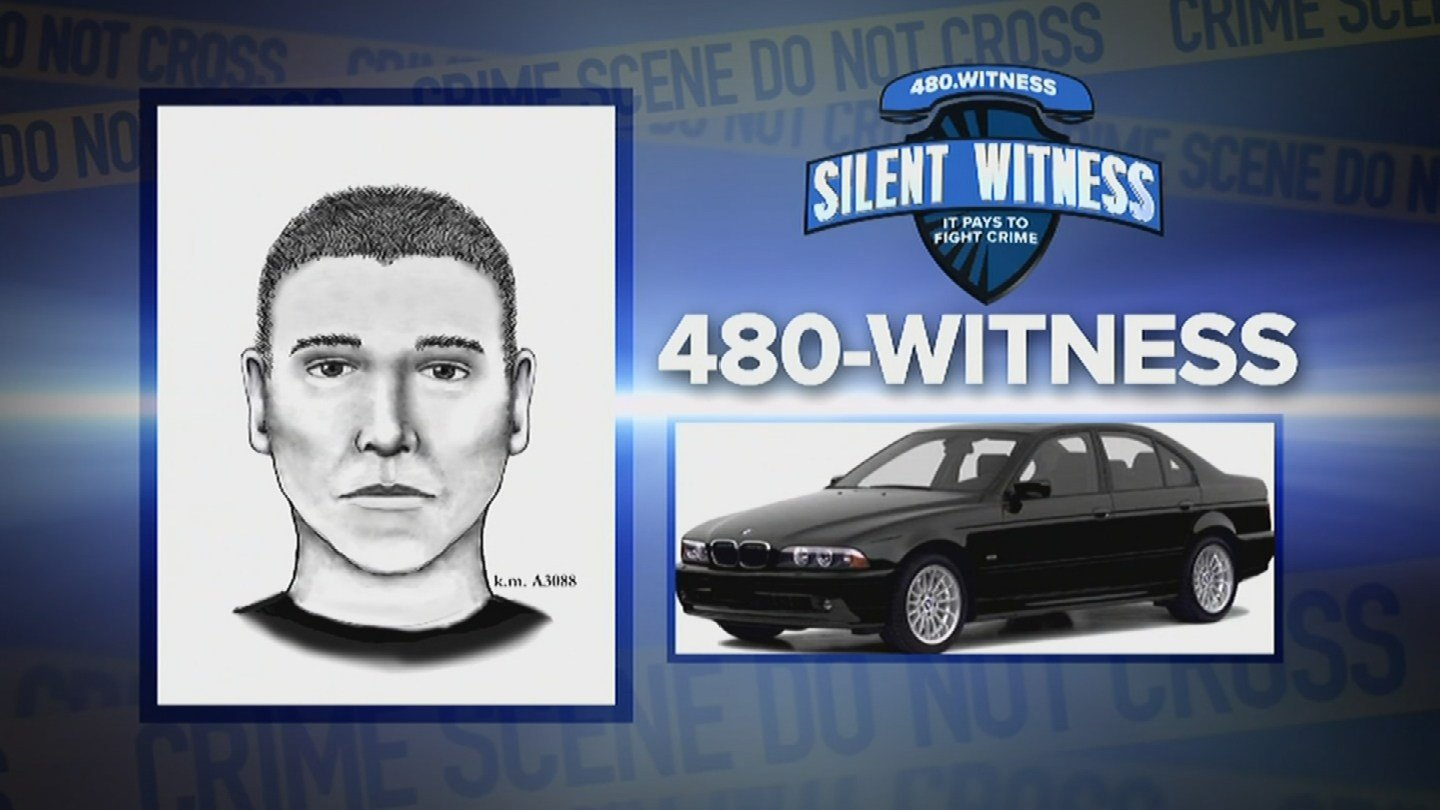 A suspect sketch and vehicle picture of the Serial Street Shooter. (Source: Phoenix Police Department)