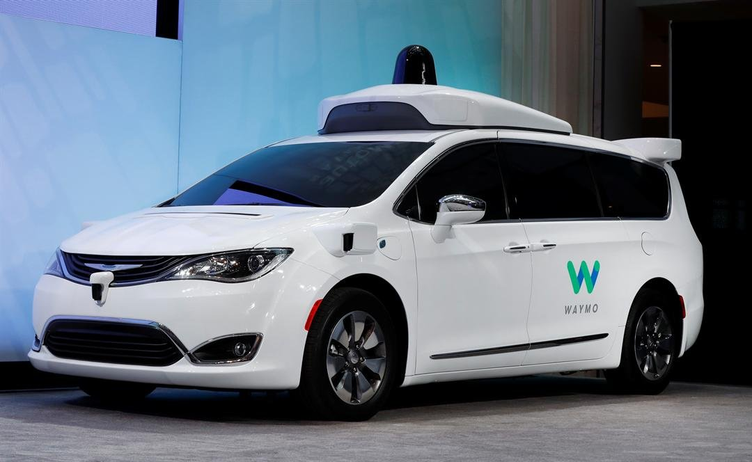 A Chrysler Pacifica hybrid outfitted with Waymo's suite of sensors and radar is shown at the North American International Auto Show in Detroit, Sunday, Jan. 8, 2017. Waymo is the autonomous vehicle company created by Google's parent company. (Source: AP)