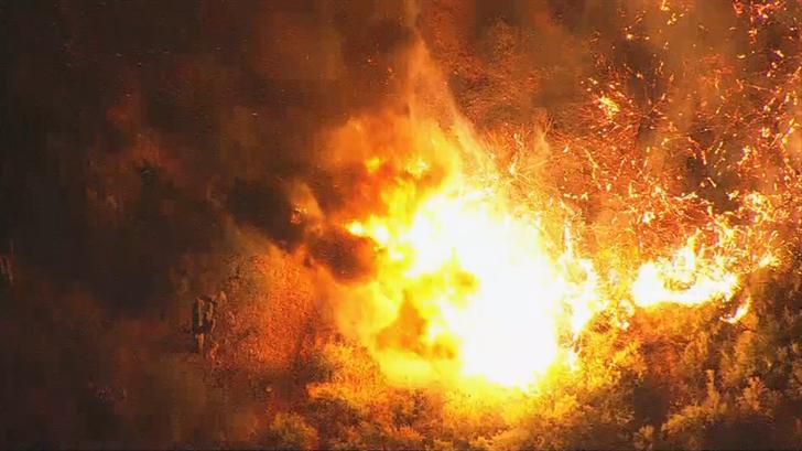 Rural/Metro firefighters: Brush fire burning on Bush Highway