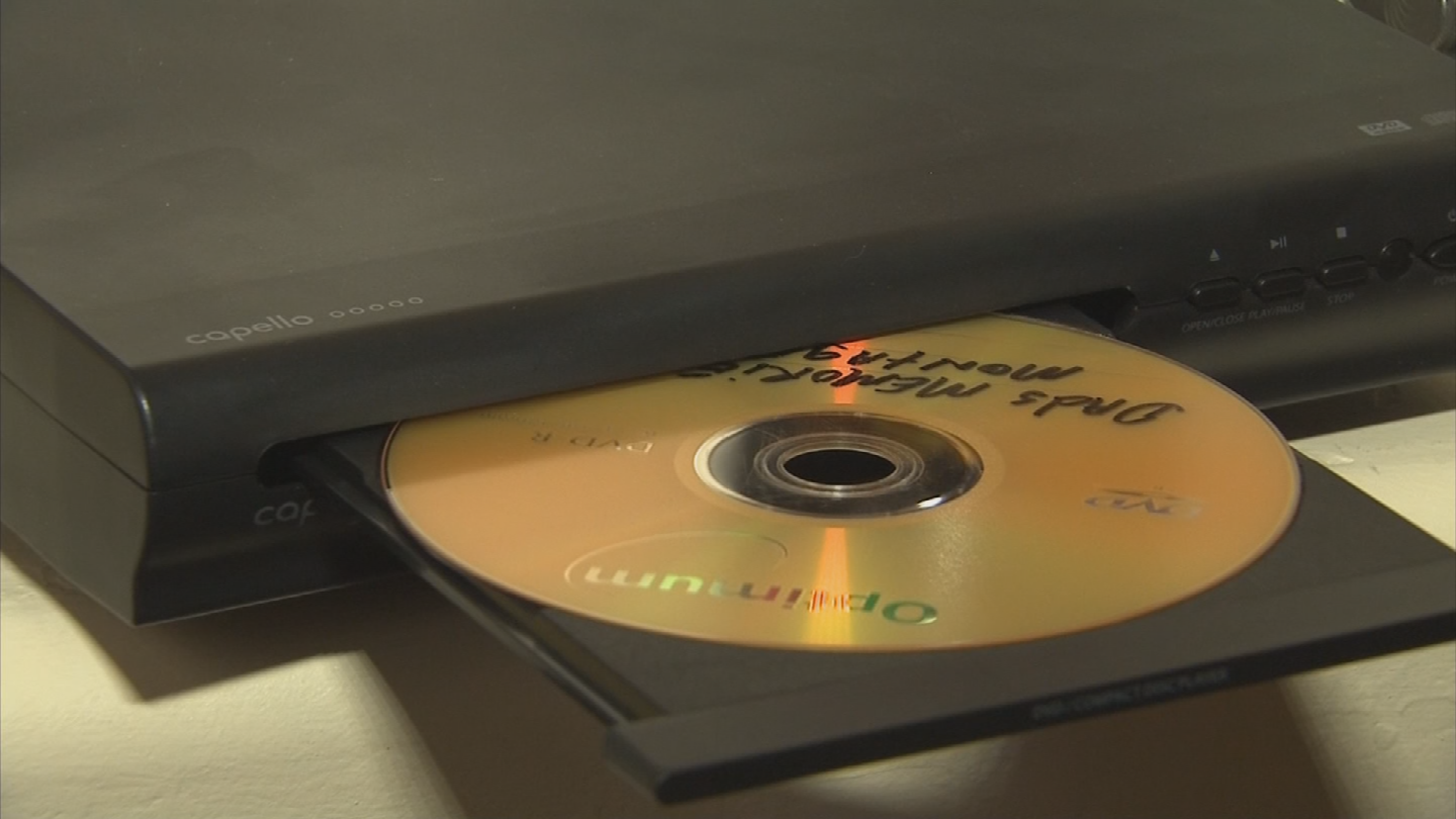 "Ronnie and her sister Madisyn found a memorial DVD inside a ""new"" DVD player they bought from Target. (Source: 3TV/CBS 5)"