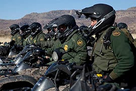 President Donald Trump has called for the hiring of 5,000 more Border Patrol agents and 10,000 more Immigration and Customs Enforcement officers. (Source: Josh Denmark/Customs and Border Protection)