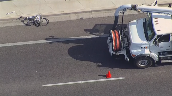 On Wednesday morning, a woman on a bike was killed when a truck ran her over near 36th Street and Baseline Road. (Source: 3TV/CBS 5)
