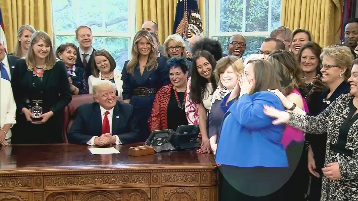 The teacher who won Arizona Teacher of the Year got a little overwhelmed at the White House on Wednesday. (Source: 3TV/CBS 5)