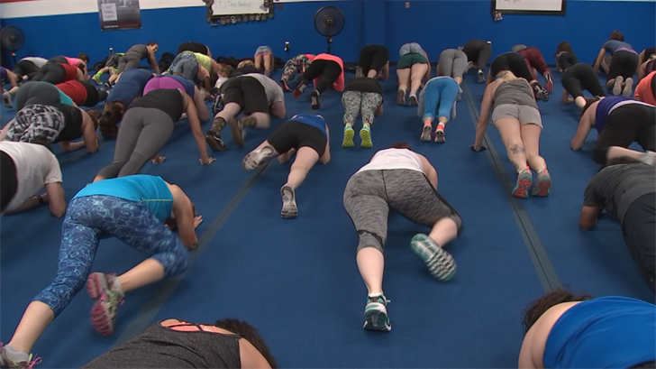 More than 100 people showed up for a special fundraising workout at Fit Body Boot Camp gym near Val Vista Drive and Baseline Road. (Source: 3TV/CBS 5)