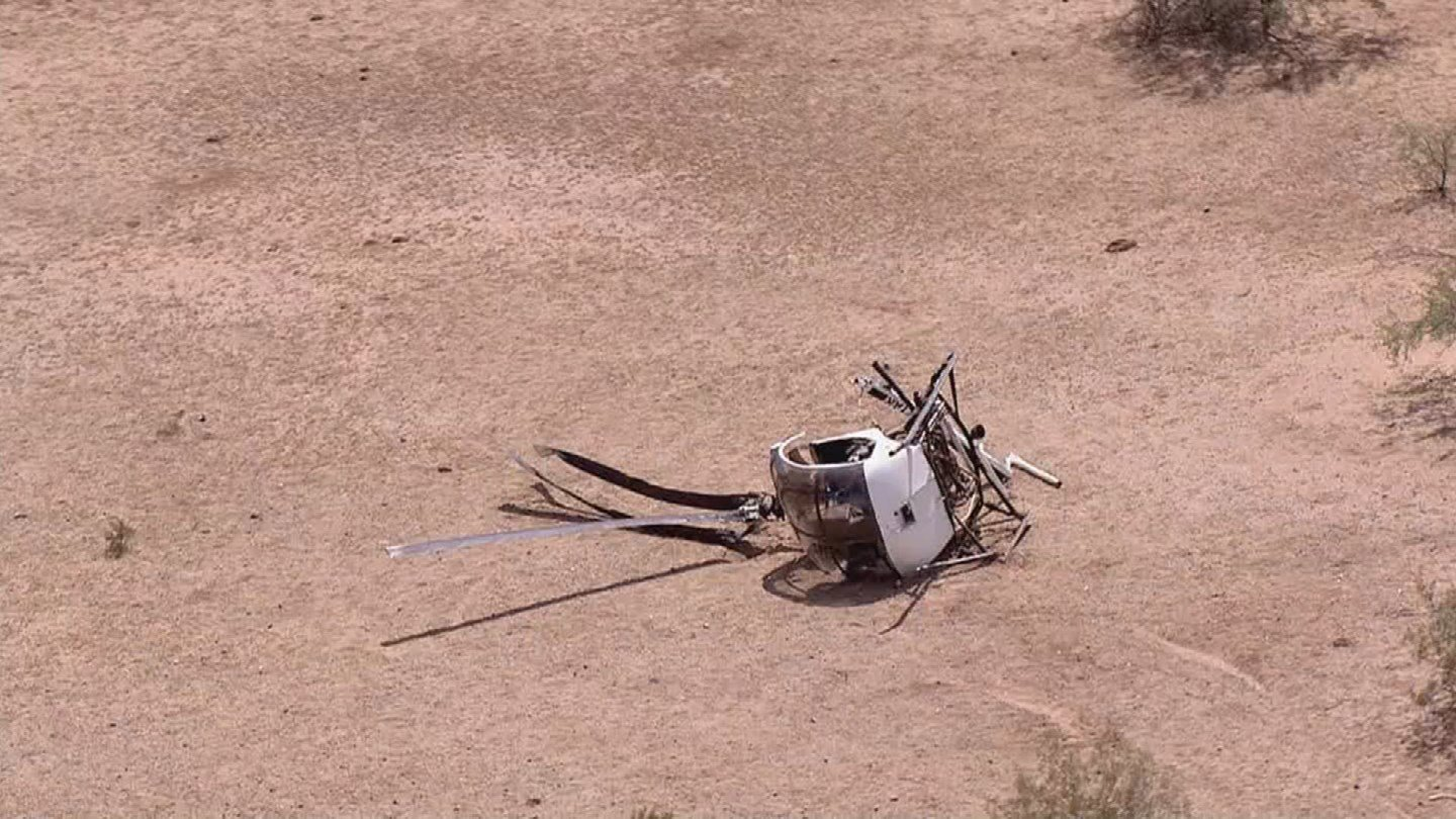 Mesa police officer-in-training not seriously hurt in helicopter emergency landing