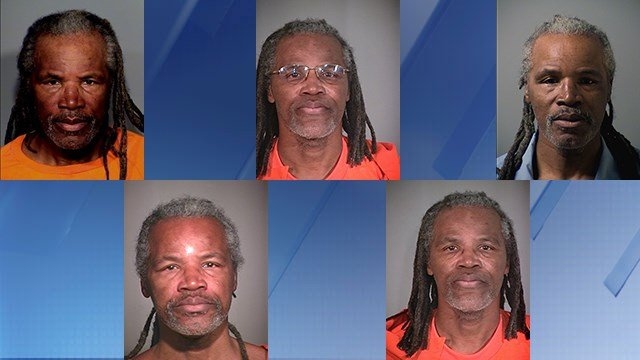 Various mugshots of Huff. (Source: Department of Corrections)