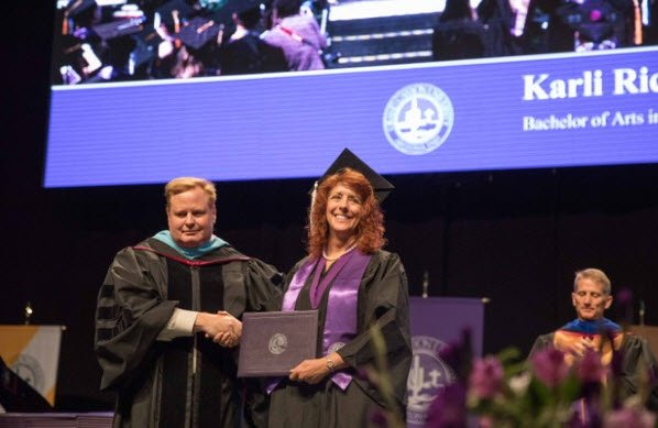 Mom accepted her daughter's diploma Thursday at GCU