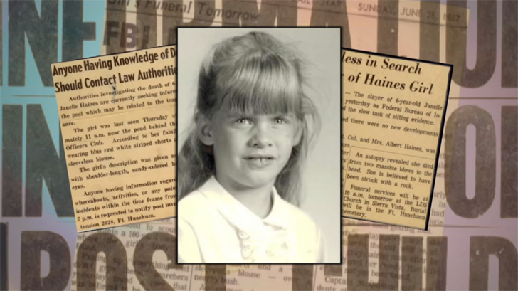 Jenelle Haines was 6 years old when she disappeared and was one of Huff's victims. (Source: 3TV/CBS 5)