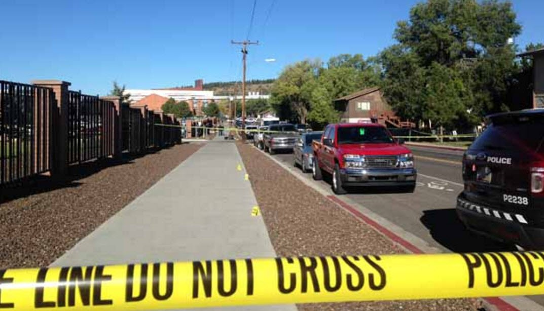 Crime tape surrounded the area where the shooting happened. (Source: KPHO/KTVK)