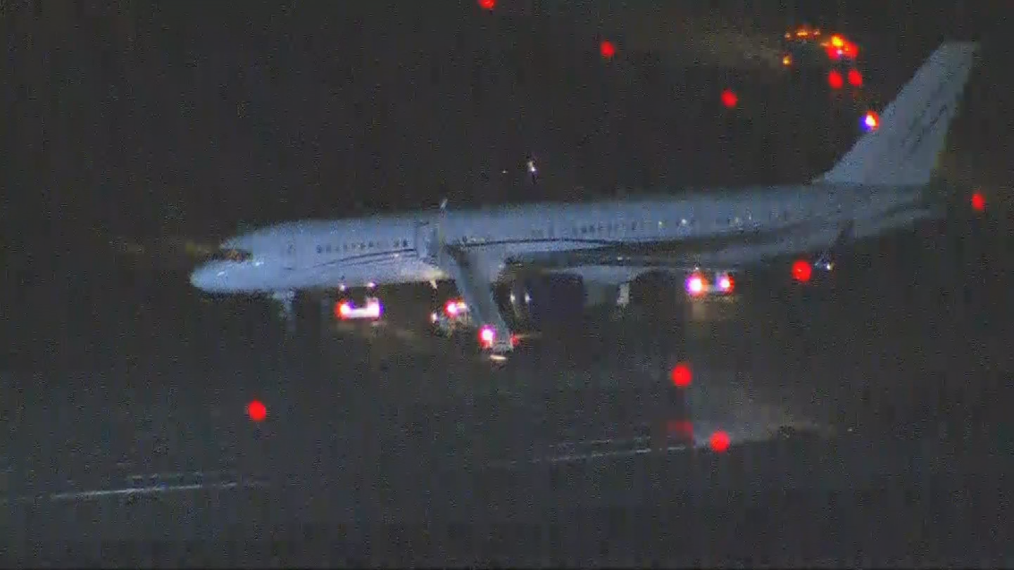 The flight came in from LAX in Los Angeles. (Source: 3TV/CBS 5)