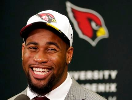 Arizona Cardinals' first-round draft pick Haason Reddick speaks after being introduced at the teams' training facility, Friday, April 28, 2017, in Tempe, Ariz. (SOURCE: AP Photo/Matt York)