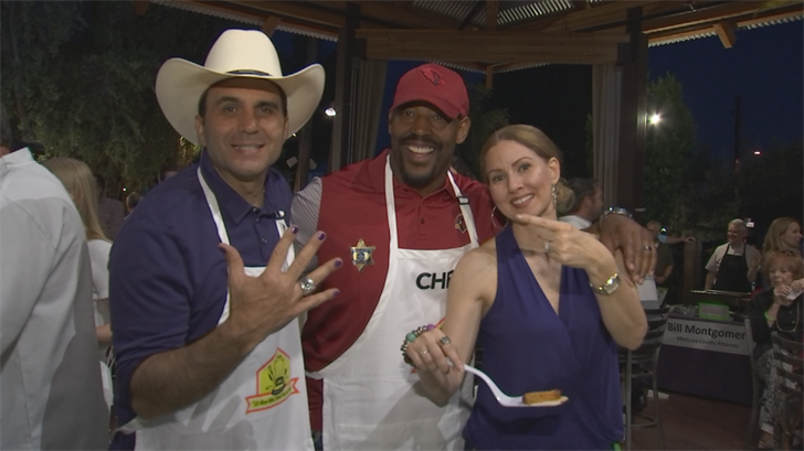 State and county officials and business men made their favorite dishes for charity. (Source: 3TV/CBS 5)