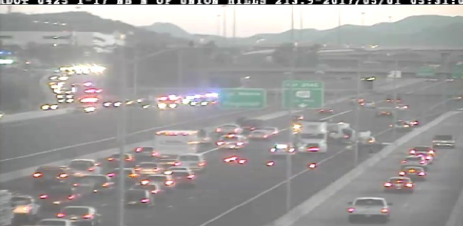 ADOT Camera showing heavy traffic at SB I-17