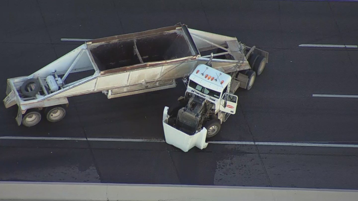 A separate crash nearby involving a semi-truck is also causing heavy traffic (SOURCE: 3TV/CBS5)
