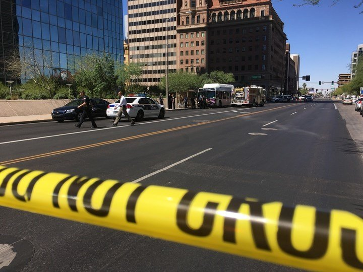 A stabbing happened at Central and Van Buren (SOURCE: 3TV/CBS5)