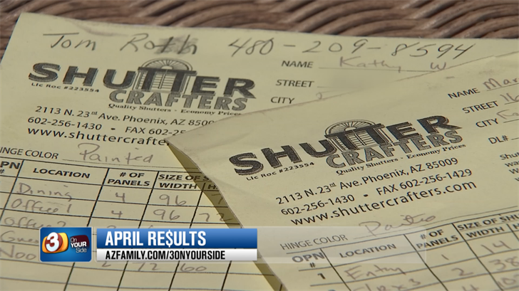 Kathy Wagoner and her mom MaryAnn paid $3,6000 for new shutters but didn't see the new shutters until 3 On Your Side got involved. (Source: 3TV/CBS 5)
