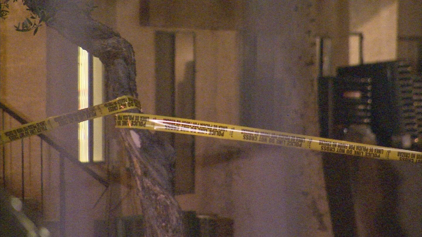 Police tape off the scene from an apartment fire in Mesa (Source: 3TV/CBS 5)