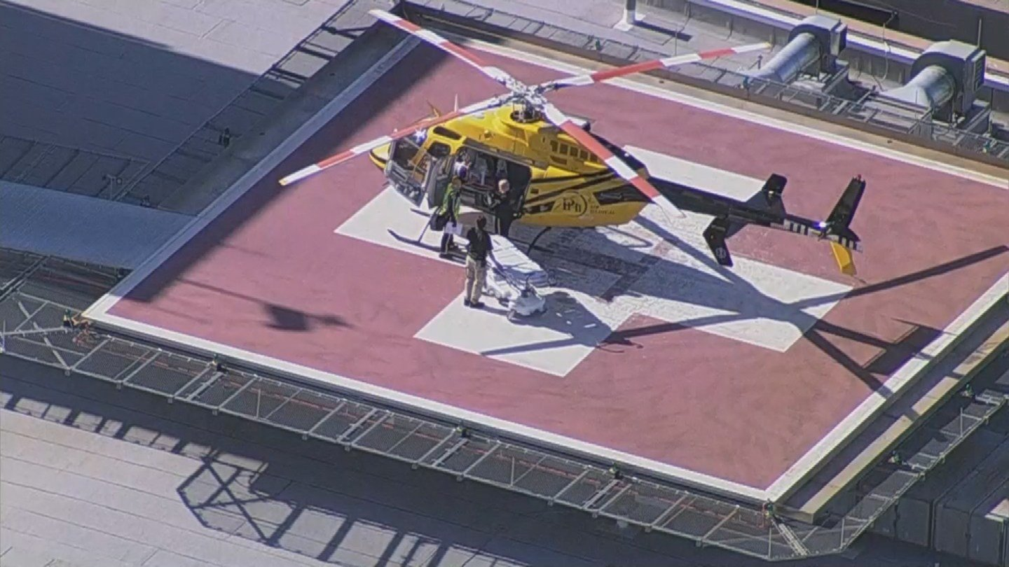 One of the four teen girls injured in a car wreck in Peoria was air-lifted to Phoenix Children's Hospital. (Source: 3TV/CBS 5)