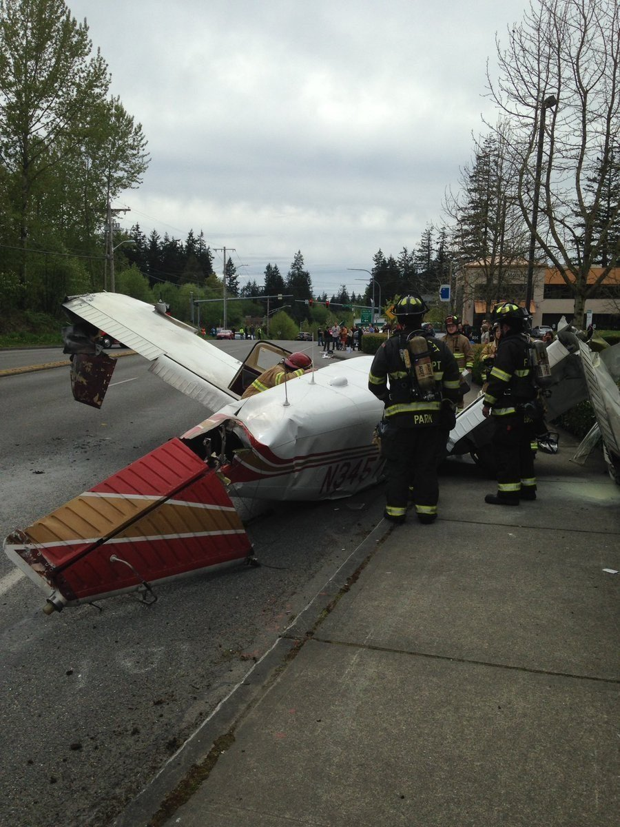 The aftermath of a plane crash in Washington. (Source: Lynwood, WA Fire Dept.)
