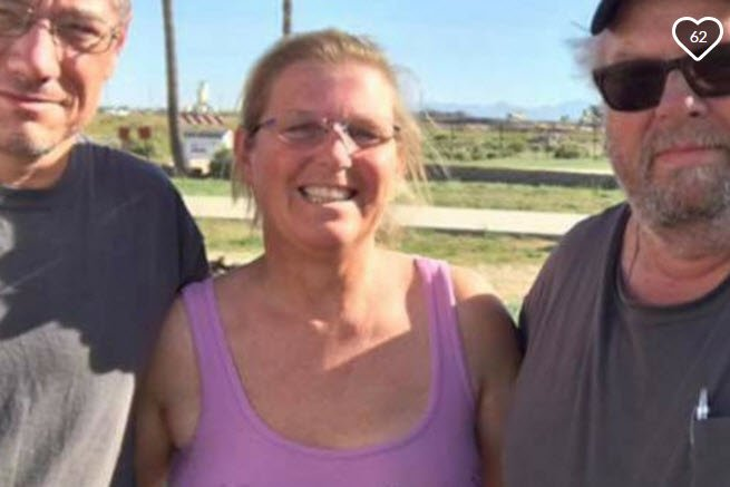 Beverly Click of Sun City helped a motorcyclist on the side of the freeway when she and the other man was hit by the driver. (Source: GoFundMe)
